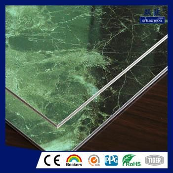 Marble grain aluminium composite panel
